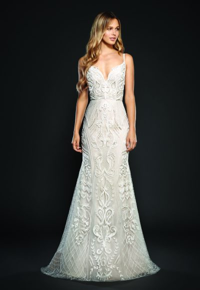 Trendy Sheath Wedding Dress by Hayley Paige