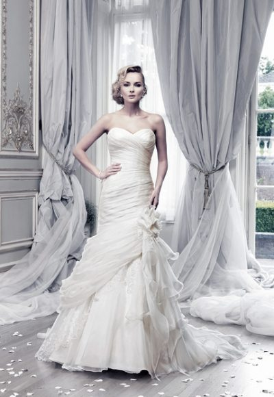 Classic Fit And Flare Wedding Dress by Ian Stuart