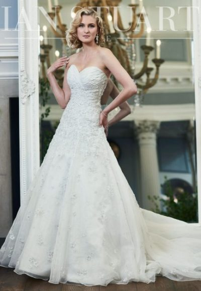 Fit And Flare Wedding Dress by Ian Stuart