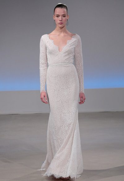 Classic Sheath Wedding Dress by Isabelle Armstrong