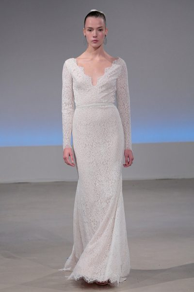 Classic Sheath Wedding Dress by Isabelle Armstrong - Image 1