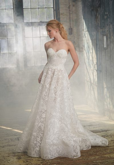 Modern Ball Gown Wedding Dress by Isabelle Armstrong