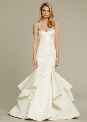Fit And Flare Wedding Dress By Jim Hjelm Image 1