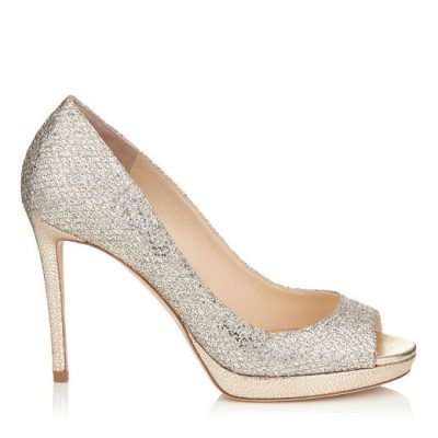 Shimmery Peeptoe High Heel Shoe by Jimmy Choo