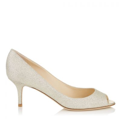 Shimmery Peeptoe Pump Shoe by Jimmy Choo