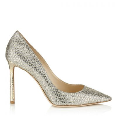 Silver High Heel Shoe by Jimmy Choo