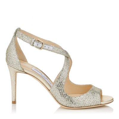 Strapply Silver High Heel Shoe by Jimmy Choo