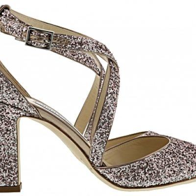 Strappy Glitter High Heel Shoe by Jimmy Choo