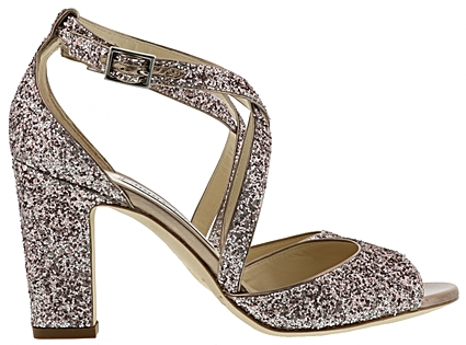 Strappy Glitter High Heel Shoe by Jimmy Choo - Image 1