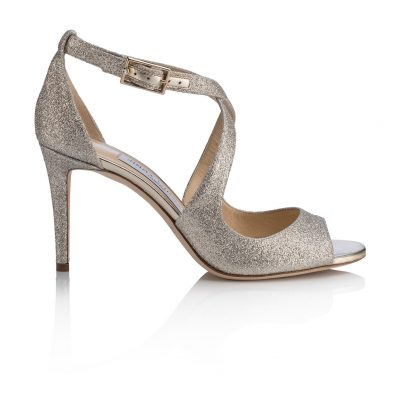 Strappy Silver High Heel Shoe by Jimmy Choo