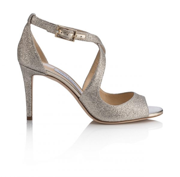 Strappy Silver High Heel Shoe by Jimmy Choo - Image 1