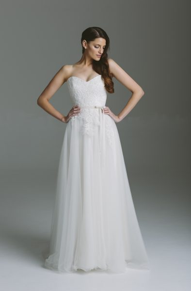 A-Line Wedding Dress by Karen Willis Holmes - Image 1