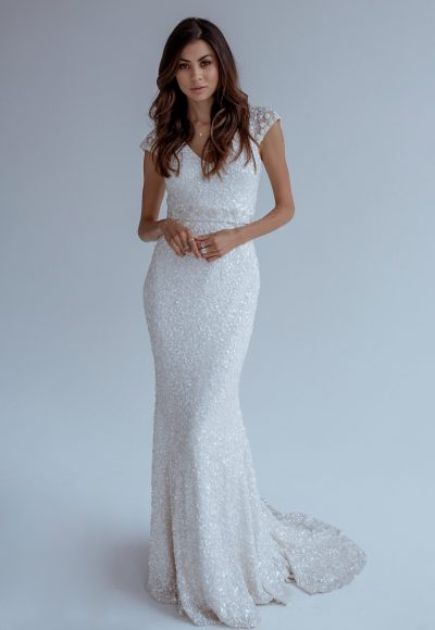 Trendy Sheath Wedding Dress by Karen Willis Holmes