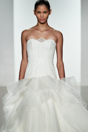Pool color wedding dresses