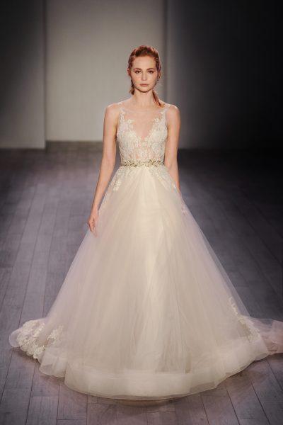 A-Line Wedding Dress by Lazaro - Image 1