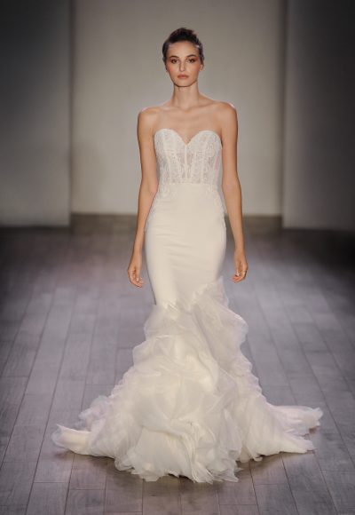 Fit And Flare Wedding Dress by Lazaro