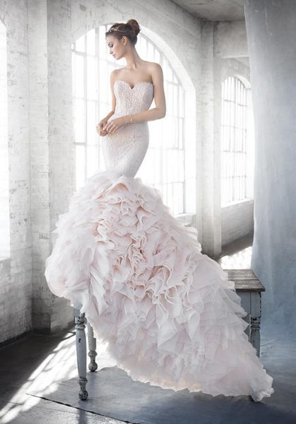 Mermaid Wedding Dress by Lazaro - Image 1