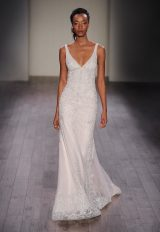 Modern Fit And Flare Wedding Dress by Lazaro - Image 1