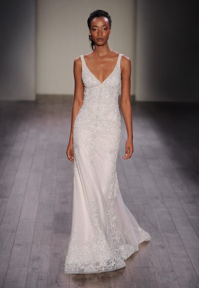 Modern Fit And Flare Wedding Dress by Lazaro