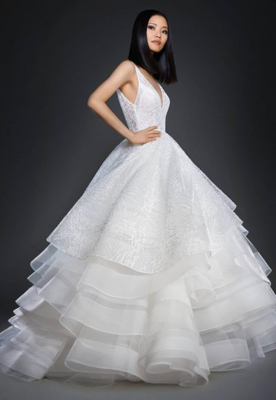 Romantic Ball Gown Wedding Dress by Lazaro