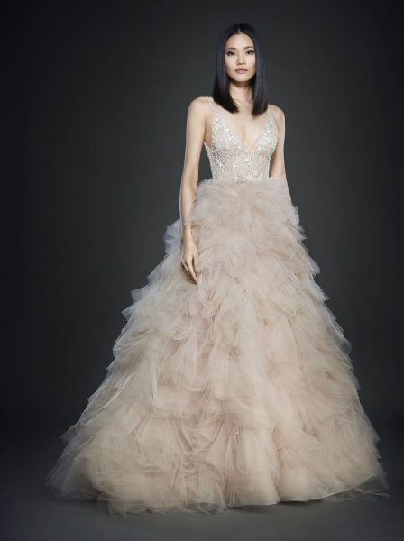Romantic Ball Gown Wedding Dress by Lazaro - Image 1