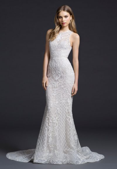 Sexy Fit And Flare Wedding Dress by Lazaro