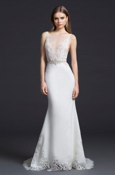 Sheath Wedding Dress by Lazaro - Image 1