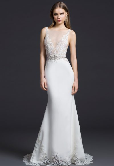 Sheath Wedding Dress by Lazaro