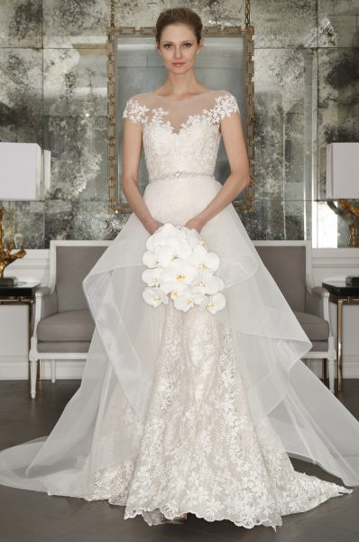 Classic Ball Gown Wedding Dress by Romona Keveza Collection - Image 1