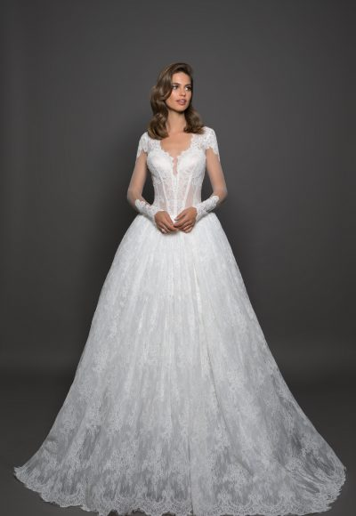 Classic Ball Gown Wedding Dress by Love by Pnina Tornai
