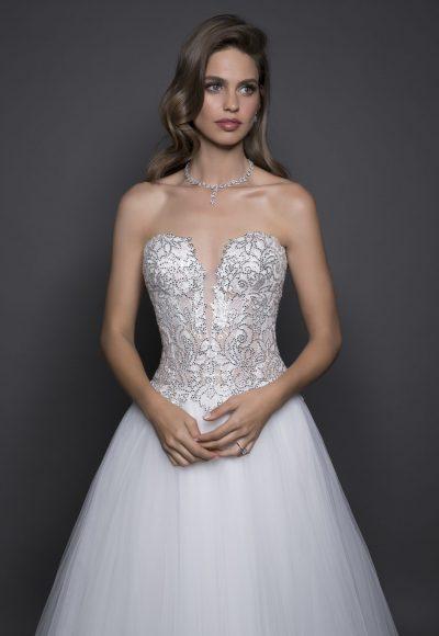 Modern Ball Gown Wedding Dress by Love by Pnina Tornai