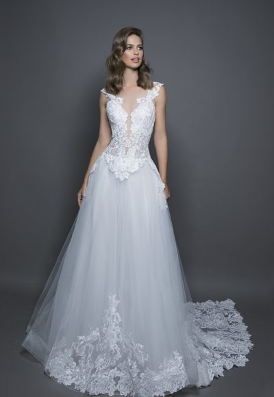 Modern Ball Gown Wedding Dress by Love by Pnina Tornai