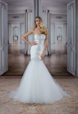 Modern Fit And Flare Wedding Dress by Love by Pnina Tornai - Image 1