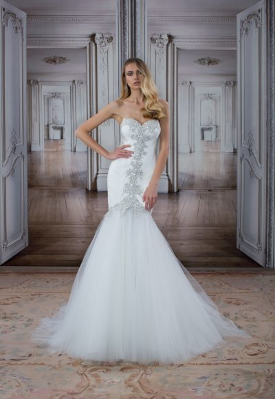 Modern Fit And Flare Wedding Dress by Love by Pnina Tornai