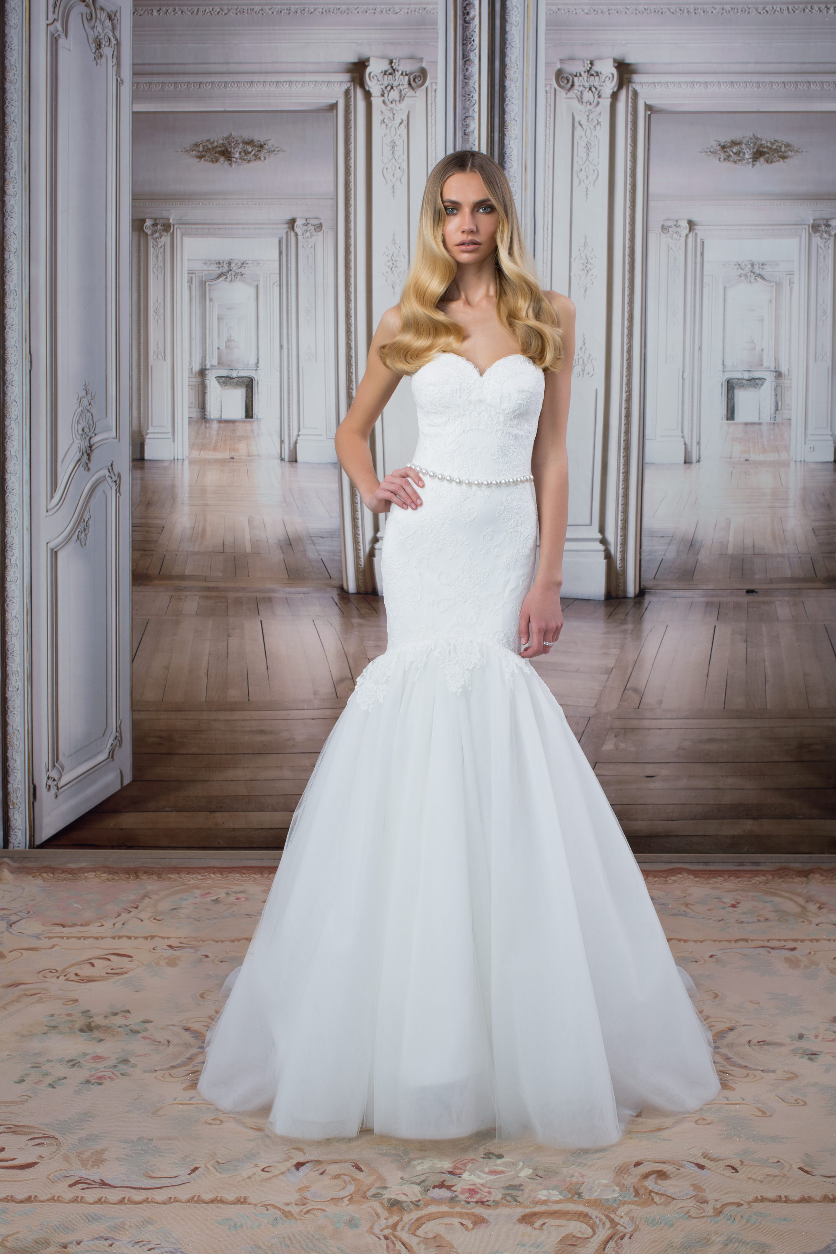 Modern Fit And Flare Wedding Dress | Kleinfeld Bridal