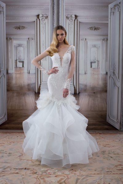 Modern Mermaid Wedding Dress by Love by Pnina Tornai - Image 1
