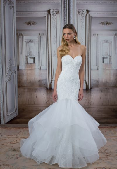Modern Mermaid Wedding Dress by Love by Pnina Tornai