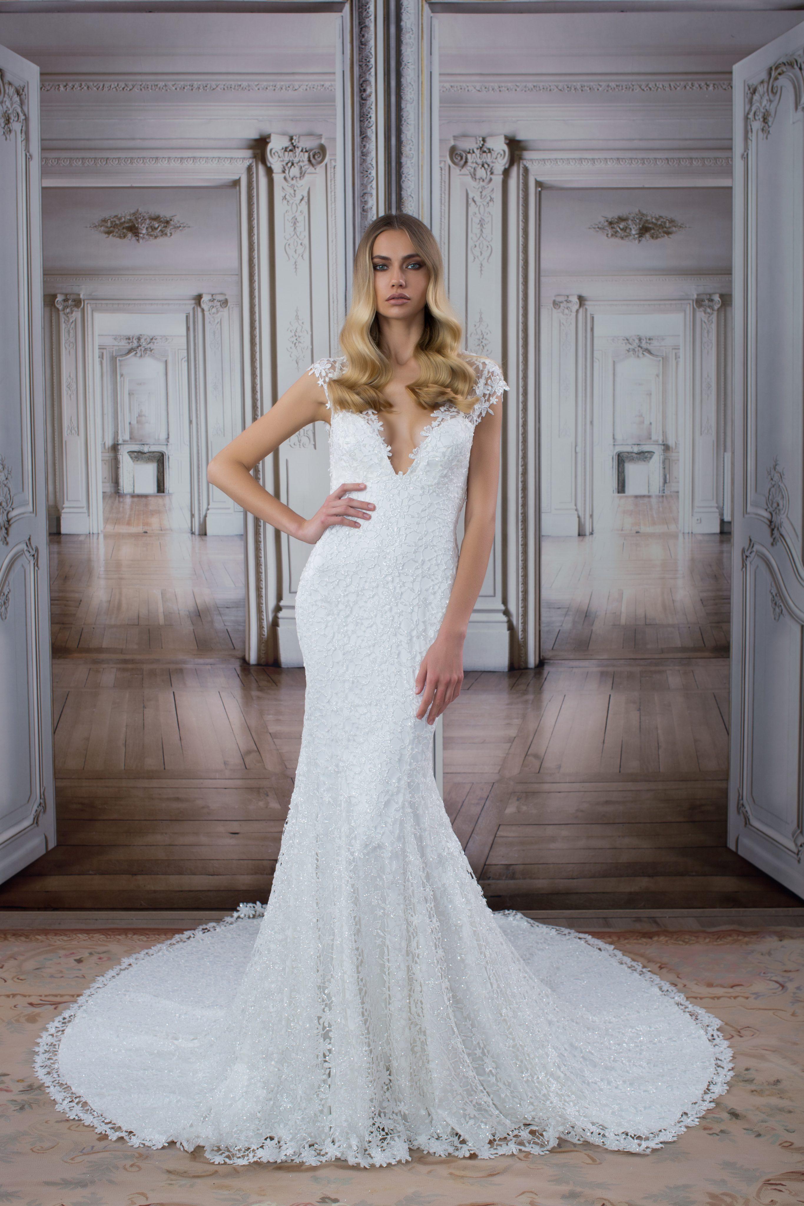 b052d446dd63 Style #14416 · Modern Sheath Wedding Dress by Love by Pnina Tornai