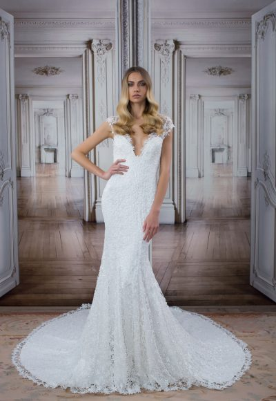 Modern Sheath Wedding Dress by Love by Pnina Tornai