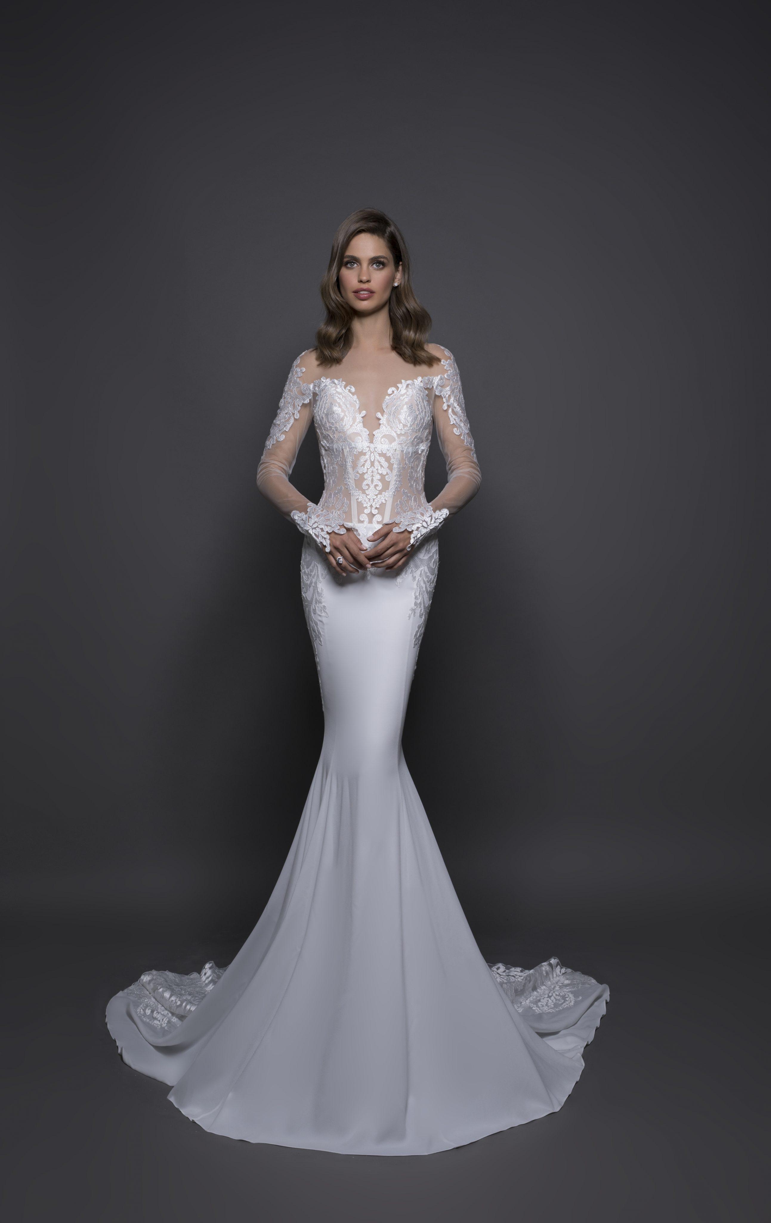 Modern Sheath Wedding Dress | Kleinfeld Bridal