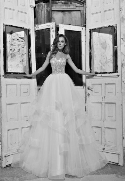 Romantic Ball Gown Wedding Dress by Love by Pnina Tornai - Image 1