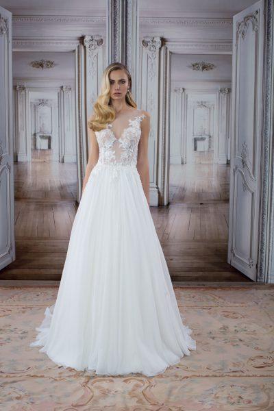 Romantic Sheath Wedding Dress by Love by Pnina Tornai - Image 1