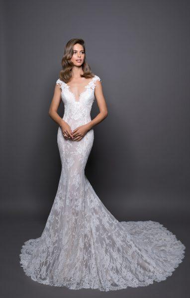 aaf4f983f1b9 Romantic Sheath Wedding Dress by Love by Pnina Tornai - Image 1