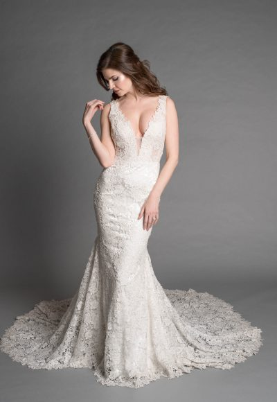 Romantic Sheath Wedding Dress by Love by Pnina Tornai