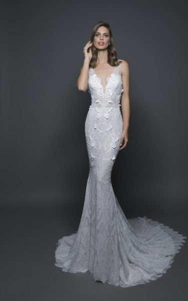Sexy Sheath Wedding Dress by Love by Pnina Tornai - Image 1