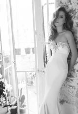 Simple Sheath Wedding Dress by Love by Pnina Tornai - Image 1