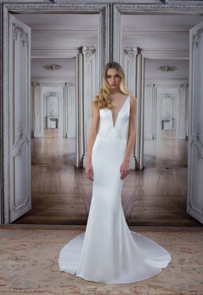 Simple Sheath Wedding Dress by Love by Pnina Tornai
