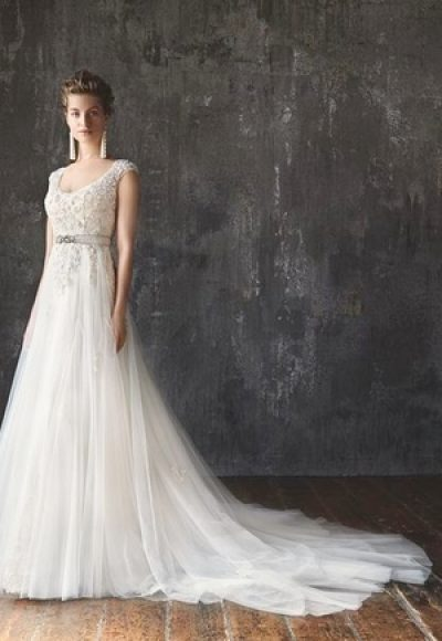 A-Line Wedding Dress by Lusan Mandongus