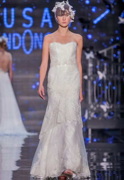 Simple Sheath Wedding Dress by Lusan Mandongus