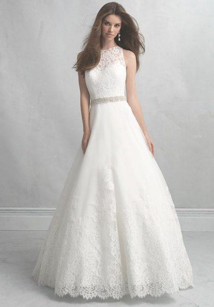Classic a line wedding dresses